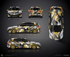 The approved wrap design project for VW Golf7 R400