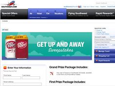 "2014 Dr Pepper and Southwest Airlines ""Get Up and Fly Away"" Sweepstakes"