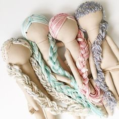 Working on hair today for Fridays Restock ❤️Any other colors you'd like to see? #mendbyrubygracedolls #handmadedoll #clothdoll #dollmaker