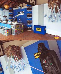 Decoração de festa infantil tema Star Wars <br>Fazemos a festa de acordo com o gosto do cliente. Qualquer tema. <br>Decorações personalizadas! <br>Confeccionamos centros de mesa e brindes/lembrancinhas para festa. <br>Entre em contato conosco e solicite orçamento.
