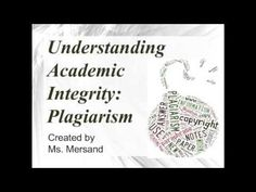 A look at plagiarism and what it means Academic Dishonesty, By Using, Integrity, Books, Livros, Data Integrity, Livres, Book, Libri
