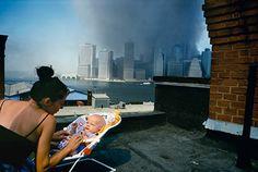 Alex Webb: View of lower Manhattan from a Brooklyn Heights rooftop, New York City, September © Alex Webb/Magnum Magnum Photos, Lower Manhattan, World Trade Center, Magnum Opus, Guernica, Rare Photos, Photos Du, Alex Webb, 11. September