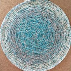 """How to Crochet a Round Rag Rug. Great info for those of us who tend to do their """"own thing""""!!!"""