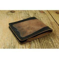 Vintage Wallet men's Leather slim