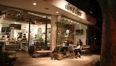 Olive & Thyme at night