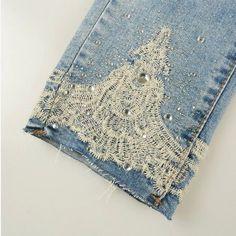 Resultado de imagen para pantalones de jeans con apliques