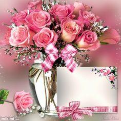 1gtvo-5ai Happy Birthday Bouquet, Happy Birthday Frame, Happy Birthday Photos, Birthday Frames, Rose Frame, Flower Frame, Birthday Greetings, Birthday Wishes, Free Valentine Clip Art