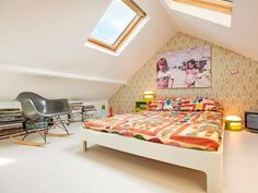 Boho room with fiberglass Rocker Chair