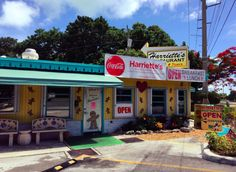 Harriette's Restaurant in Key Largo, Florida is the type of no-frills diner that people absolutely fall in love with.