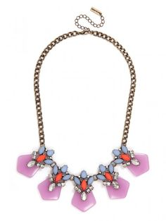 Frosted Orchid Collar Necklace | BaubleBar
