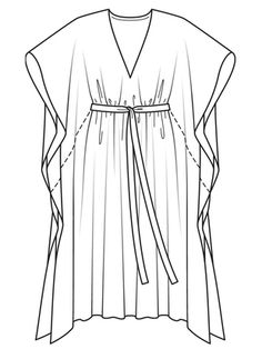Schnittmuster Kaftan - Another! Dress Sewing Patterns, Clothing Patterns, Pattern Sewing, Sewing Clothes, Diy Clothes, Kaftan Pattern, Mode Kimono, Fashion Pattern, Dress Flats