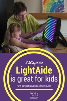 5 ways the LightAide is great for kids with CVI, cortical visual impairment! The LightAide™ is an exciting educational tool for students with vision impairments, cognitive disabilities and other challenges. Children with Cortical Visual Impairment (CVI) really respond to the LightAide due to some of its great features including it's bright lights (of course!), it's fun, simple and so much more! Learn more about the LightAide and teaching kids with CVI on Perkins.org!