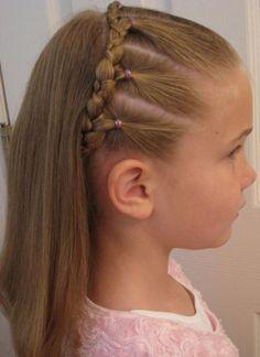 Lil girl braid