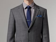 Indochino: Earl Gray Plaid Suit