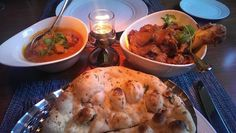 Lahori Chicken and Ran e Mithas with Garlic Nan #food #chicken #indian #garlic #Edinburgh #Mithas