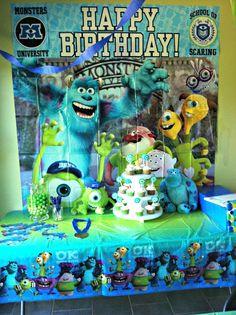 Monsters University Birthday Party