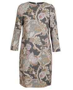 DRIES VAN NOTEN   Dakar Floral Printed Wool-Silk Dress