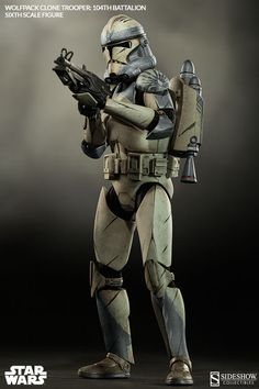 Star Wars Wolfpack Clone Trooper: 104th Battalion Sixth Scal   Sideshow Collectibles