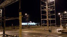 本日の定期船は三池港に入港。 雨です。気温は12度。