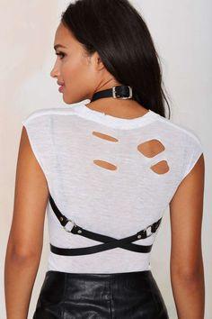 Zana Bayne Tatiana Leather Harness - Lights Down Low | Lights Down Low | Lingerie Accessories | Body Chains