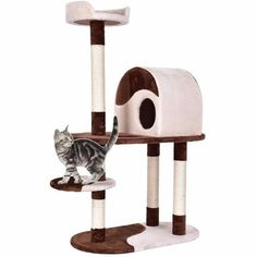 48 Cat Tree Kitten Activity Tower Furniture Condo w Perches Scratching Posts - Cat Furniture - Ideas of Cat Furniture - 48 Cat Tree Kitten Activity Tower Furniture Condo w Perches Scratching Posts Price : Cat Tree Condo, Cat Condo, Cat Lover Gifts, Pet Gifts, Pet Lovers, Large Cat Tree, Cheap Pets, Wood Cat, Cat Towers