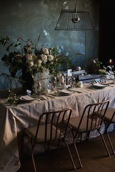 Industrial Chic by Whitewall Photography for Magnolia Rouge Magazine Props - The Props Dept. Flowers - The Bluebell Society Menus - The Ink Room