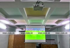 Lắp máy chiếu Panasonic PT-LB300A cho quán cafe bóng đá K+. VNPC lắp đặt bộ máy chiếu và màn chiếu cho quán cà phê xem bóng đá tại quận Tân Bình TpHCM.