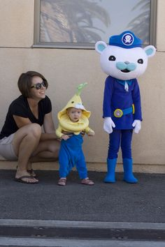 Halloween 2015 homemade Octonauts Captain Barnacles and Turnip costumes by Blake Williams Great Halloween Costumes, Fancy Costumes, Halloween 2015, Cat Costumes, Baby Halloween, Penguin Costume, Bunny Costume, Toddler Boy Costumes, Smurfs