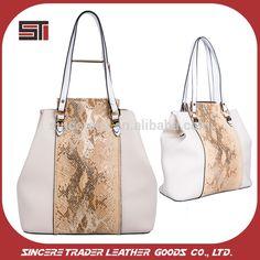 2017 China factory direct designer handbag snake skin PU handbag lady 16SH-5563D