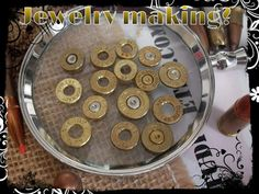Recycled cut bullet backs for jewelry making by Gunsmokestudio, $16.00