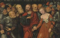 Lucas Cranach II (Wittenberg 1515-1586) | Christ and the Woman Taken in Adultery | 16th Century, Paintings | Christie's