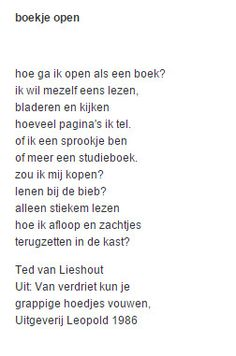 Ted van Liedhout - Boekje open (1986) The Words, Poem A Day, Dutch Quotes, Word Porn, Booklet, Sentences, Best Quotes, Qoutes, Ted