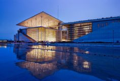 Italian architect Renzo Piano has finished a major new park, library and theatre complex in Athens, the Stavros Niarchos Cultural Centre. Renzo Piano, Greece Art, Athens Greece, Contemporary Architecture, Interior Architecture, Stavros Niarchos, Leed Certification, Building Exterior, Cultural Center