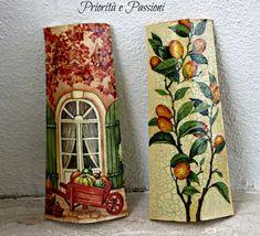 ABruxinhaCoisasGirasdaCarmita: Telhas decoradas (découpage)