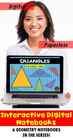Go paperless with this digital resource for geometry for Google Drive®️️️. The Google Slides cover the these types of triangles: equilateral, isosceles, scalene, right triangle, acute triangle and obtuse triangle. Students practice drawing these types of triangles as well as solving problems involving these plane figures. Includes answer key and scoring guide. Come check out the PREVIEW!
