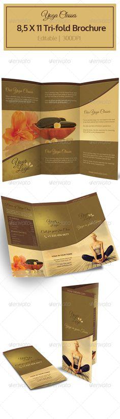 Yoga Tri-fold Brochure - Brochures Print Templates