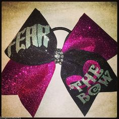 fear the bow all glitter cheer bow by blingonthebows.com