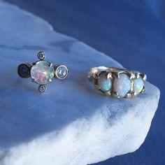 Chill factor ❄️❄️ #Polaris #Freyja #opal #diamonds #materiaprimafine