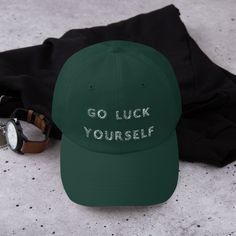 72c06ff6b95 Irish Luck Hat St Patricks Day Irish Shamrock Trucker Cap. Funny Irish Hat.  Go Luck Yourself. Shamrock Cap. St Pattys Day Hat