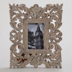 Gray Wash Isla Carved Frame | World Market