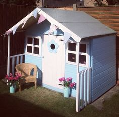 Buy Waltons 6 x 5 Honeysuckle Wooden Playhouse at Waltons Garden Buildings. Girls Playhouse, Garden Playhouse, Swiss Cottage, Garden Buildings, Cottage Design, Play Houses, Backyard Landscaping, Garden Ideas, Shed