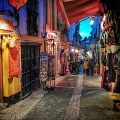 Morrocan street in Granada, Spain by Canvas of Light