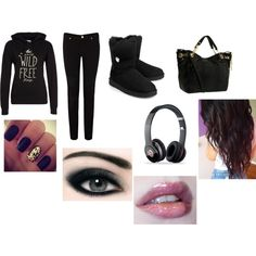 """""""Feeling Black on a School Day :)"""" by crystalblack6 on Polyvore"""