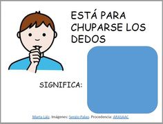 ARASAAC - Materiales: Comprendemos frases en sentido figurado Writing Activities, Fourth Grade, Software, Therapy, Comics, Reading, Character, Tea, Speech Therapy