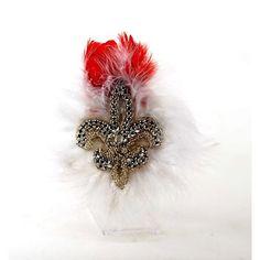 White Feather Retro Victorian Gothic Fashion Jewelry Brooch Epaulet Men  SKU-71118012