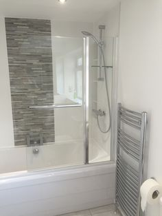 shower over bath in moortown bathroom