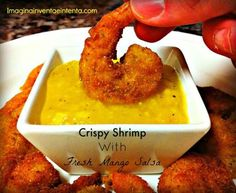 Crispy Shrimp with Fresh Mango Salsa - this delicious meal is perfect for parties and other get togethers.
