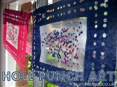 hole punch/contact paper