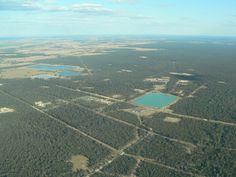 Fracking - Aerial, CSG site, Western Downs, August 2011