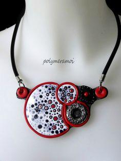 Polymer clay necklace, Polymeramoi.